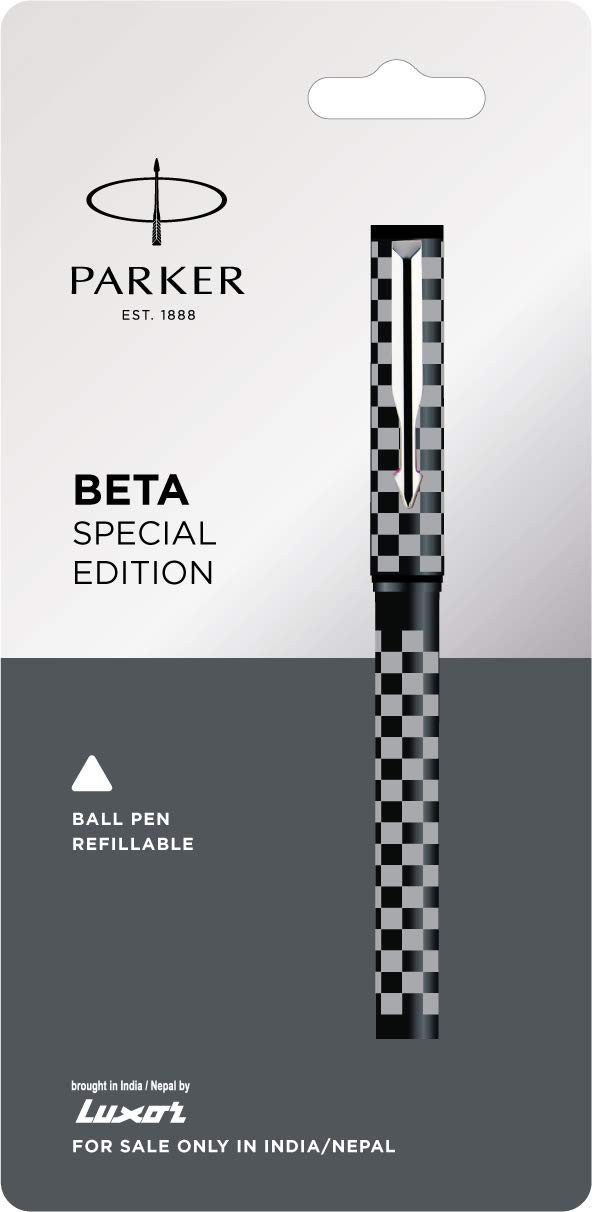 Parker : Beta Ball Pen Blue ink  Special Edition Chess Design